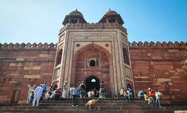 Czerwony fort w Agra, India Fotografia Royalty Free