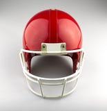 Czerwony futbol amerykański hełm Fotografia Royalty Free