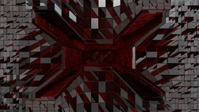 Czerwony futurystyczny astronautyczny tunelowy wejście Zdjęcia Stock