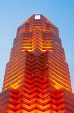 Czerwony futurystyczny drapacz chmur Zdjęcie Stock