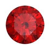 czerwony garnet round kształtował Fotografia Royalty Free