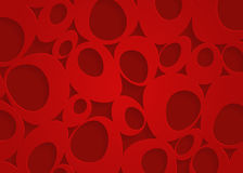 Czerwony geometryczny papierowy abstrakcjonistyczny tło Obraz Royalty Free