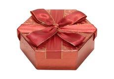 czerwony giftbox Fotografia Stock
