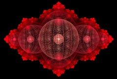 Czerwony globalny okręgu abstrakt Zdjęcia Royalty Free
