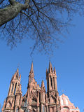 Czerwony gotyk w Vilnius obrazy royalty free