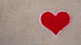 Czerwony graffiti serce obraz stock