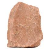 Czerwony granitu kamień Odizolowywający na Białym tle Obraz Stock