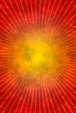 Czerwony grunge sunburst Obrazy Royalty Free