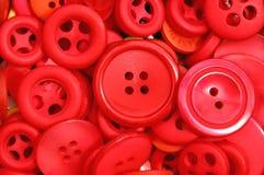czerwony guzik Obrazy Stock