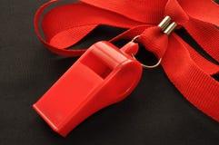 czerwony gwizdek Zdjęcia Stock