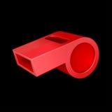 czerwony gwizdek Obraz Stock