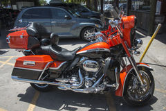 Czerwony Harley Fotografia Stock