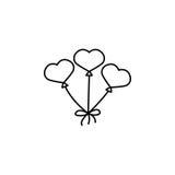 Czerwony hearth kształtujący balony Obrazy Royalty Free