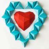 Czerwony hearth na lodzie obraz royalty free