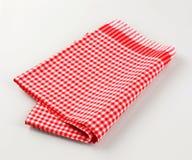 czerwony herbacianego ręcznika biel Fotografia Stock