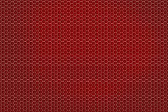 Czerwony honeycomb wzór Obrazy Royalty Free