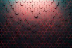 Czerwony honeycomb wzór ilustracja wektor