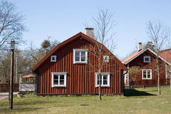 czerwony house Zdjęcia Stock