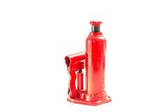 Czerwony Hydrauliczny Samochodowy Jack Zdjęcie Stock