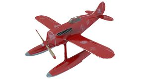 czerwony hydroplan 3 d czynią ilustracji
