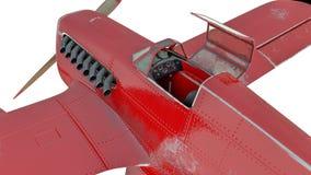 czerwony hydroplan 3 d czynią royalty ilustracja