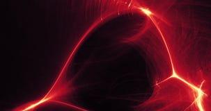 Czerwony I Żółty Abstrakcjonistyczny projekt W linii krzyw cząsteczkach Zdjęcia Stock