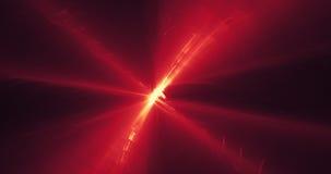 Czerwony I Żółty abstrakt Wykłada krzyw cząsteczek tło Obrazy Royalty Free