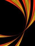 Czerwony i Żółty Abstrakcjonistyczny Tło Fotografia Stock