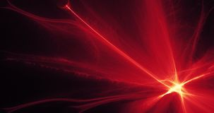 Czerwony I Żółty abstrakt Wykłada krzyw cząsteczek tło Fotografia Stock