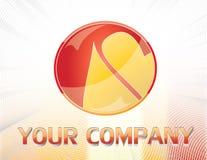 Czerwony i żółty logo zdjęcie stock