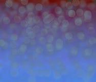 Czerwony i błękitny bokeh Zdjęcia Royalty Free