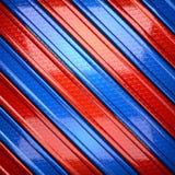 Czerwony i błękitny metalu tło Obrazy Royalty Free