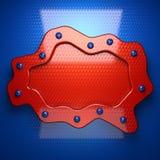 Czerwony i błękitny metalu tło Obraz Stock