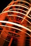 Czerwony i Biały Paddlewheel w ruchu zakończeniu Up obrazy royalty free