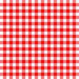 Czerwony i biały tablecloth Fotografia Royalty Free