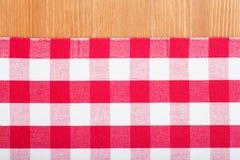 Czerwony i biały tablecloth Zdjęcie Royalty Free