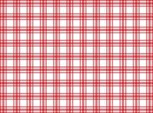 Czerwony i biały tablecloth wzór obrazy royalty free