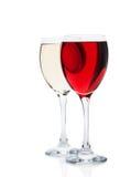 Czerwony i biały wino Obraz Royalty Free