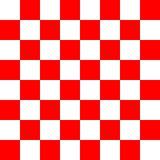 Czerwony i biały checker tekstury wzór Zdjęcie Stock