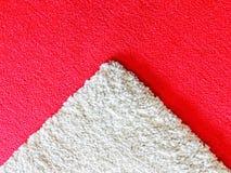 Czerwony i biały dywan Obraz Royalty Free