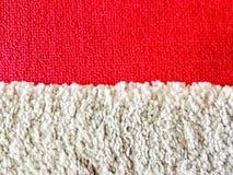 Czerwony i biały dywan Zdjęcia Stock