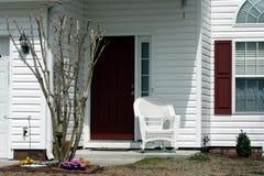 Czerwony i biały Entryway Obrazy Stock
