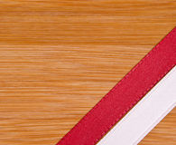 Czerwony i biały faborek Obraz Stock