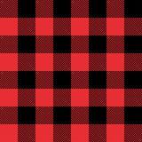 Czerwony i Czarny tartan szkockiej kraty bezszwowy abstrakcjonistyczny w kratkę deseniowy tło Zdjęcie Royalty Free