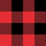Czerwony i Czarny tartan szkockiej kraty bezszwowy abstrakcjonistyczny w kratkę deseniowy tło