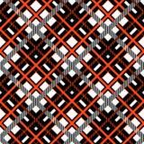 Czerwony i czarny tartan szkockiej kraty Szkocki bezszwowy wzór Tekstura od tartanu, szkocka krata, tablecloths, odziewa, koszula ilustracja wektor