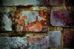 Czerwony i pomarańczowy ściana z cegieł fotografia royalty free