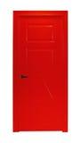 Czerwony izbowy drzwi odizolowywający Obraz Royalty Free