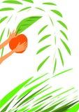 czerwony jabłczana ilustracji