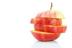 czerwony jabłczana pokroić Obraz Royalty Free
